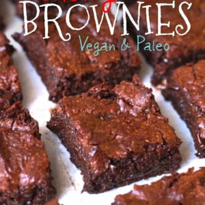 chewy vegan brownies