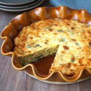 Gluten free crustless quiche