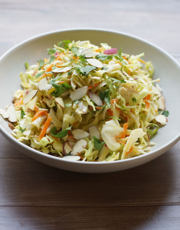 chinese cabbage salad in a bowl