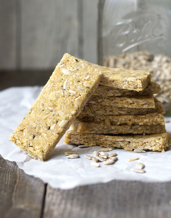no-bake coconut granola bars stacked