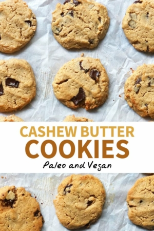cashew butter cookies pin