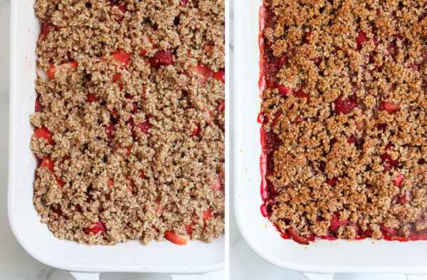before and after baked crisp topping