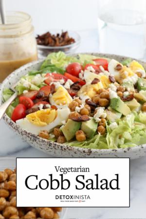 vegetarian cobb salad pin