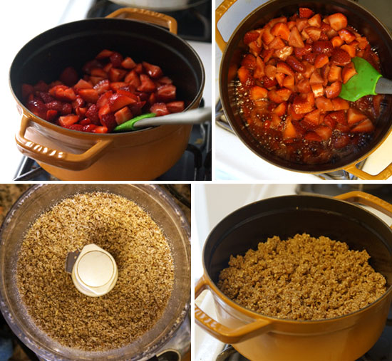 making the berry crisp