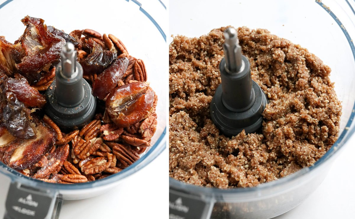 pecans and dates in food processor