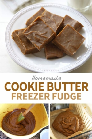 cookie butter freezer fudge