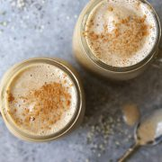 overhead vegan frozen chai latte