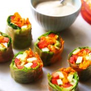 garden rolls with sauce