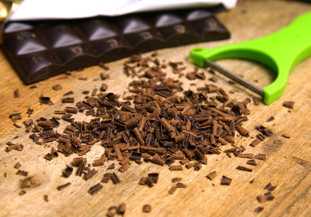 chocolate shavings