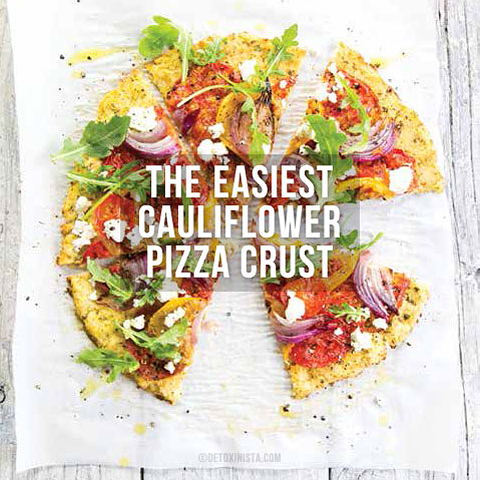 The Easiest Cauliflower Pizza Crust