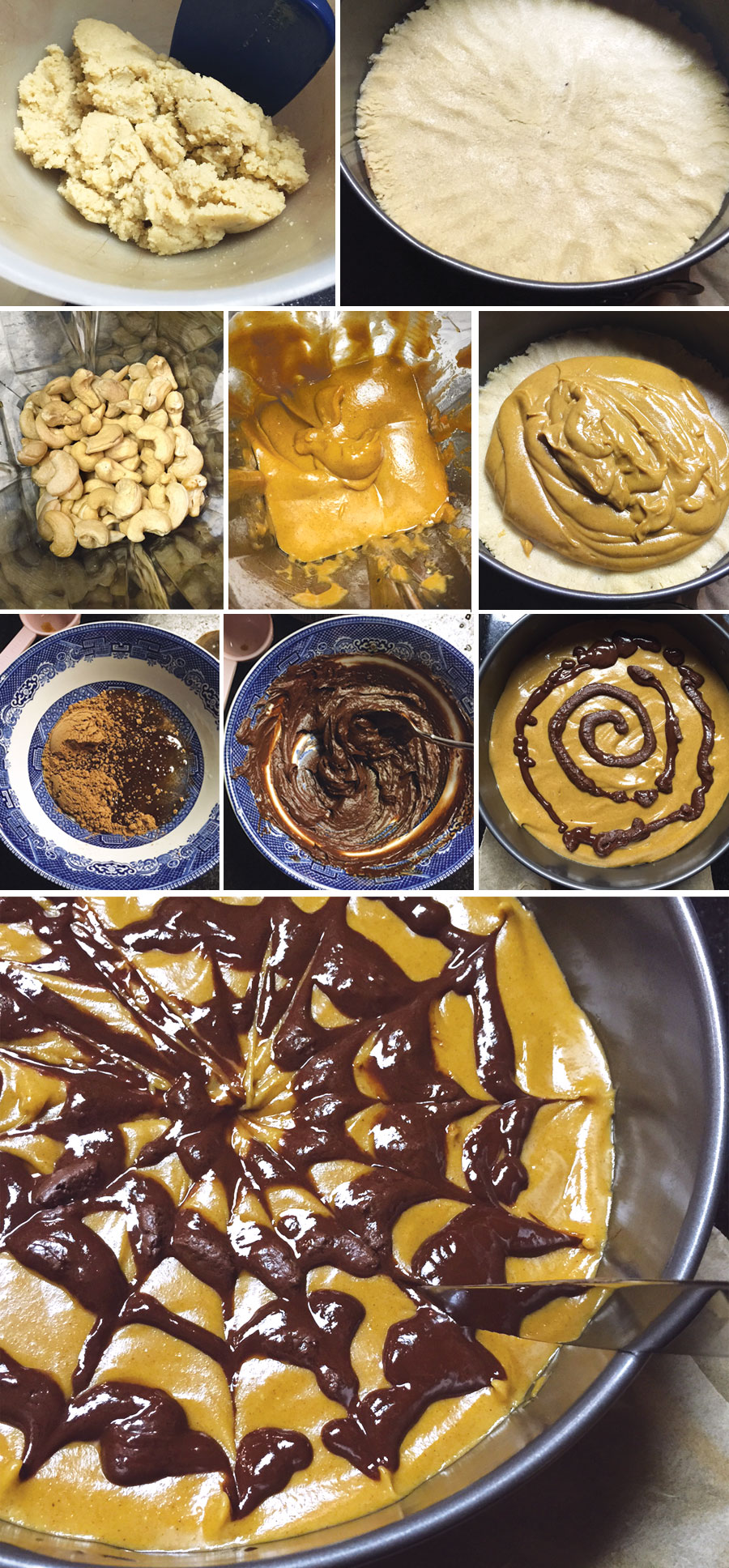 steps to make pumpkin chocolate cheesecake