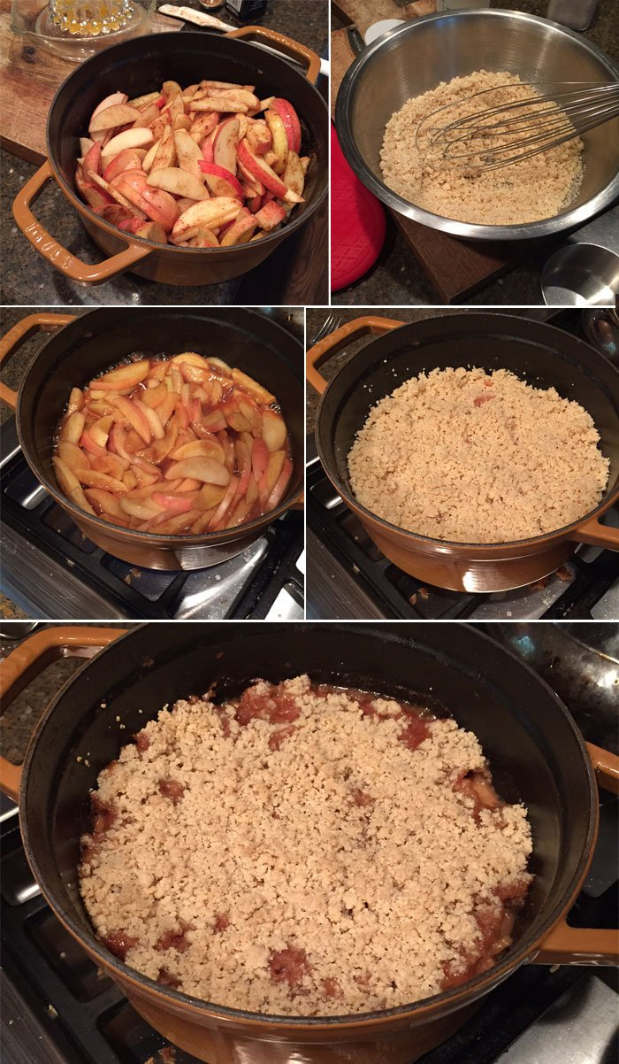 making apple crisp