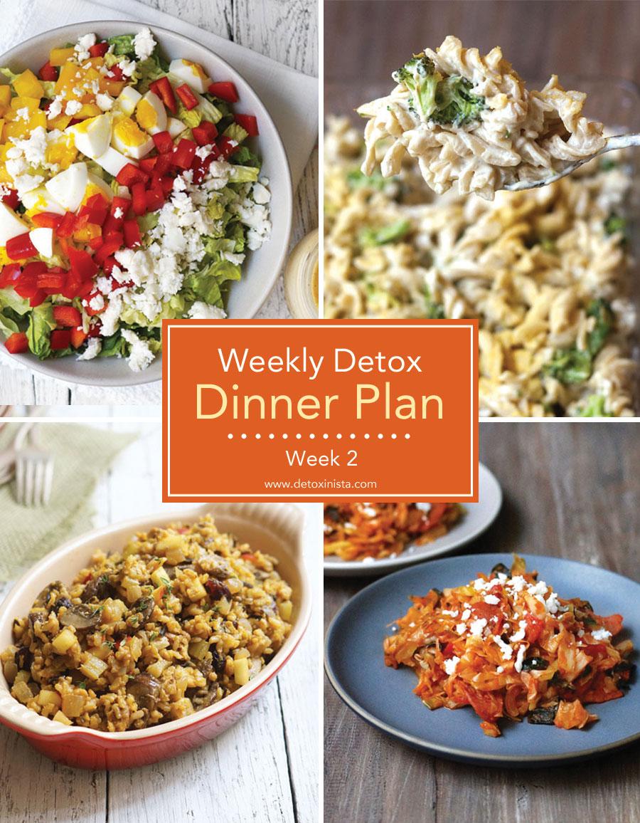 weekly detox dinner plan