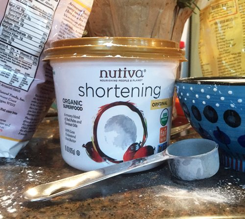 container of nutiva shortening