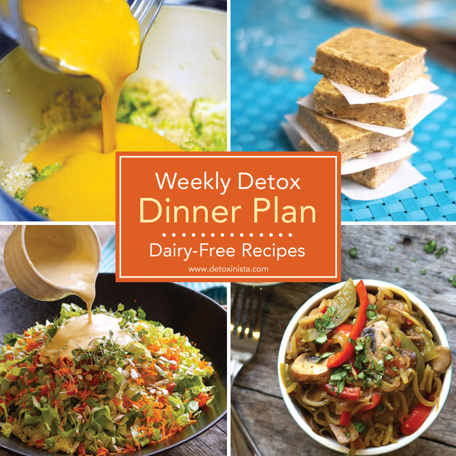 dairy-free recipes for a weekly detox dinner plan