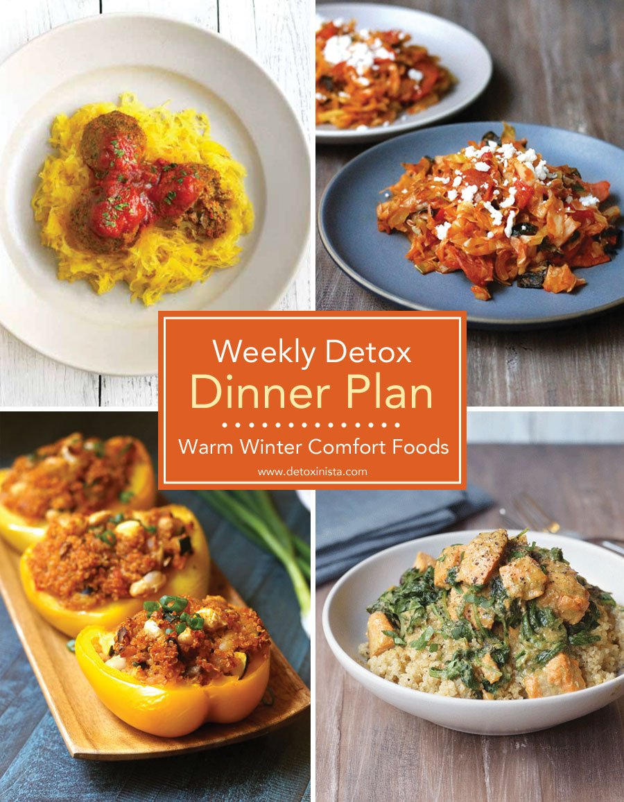 recipes for weekly detox dinner plan