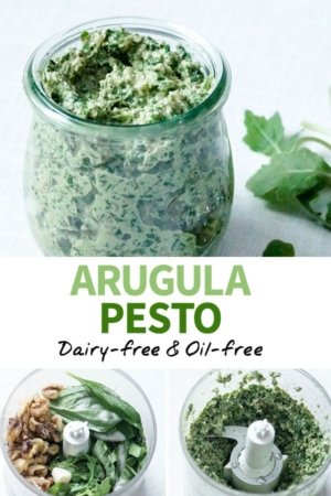 arugula pesto pinterest pin