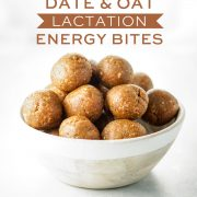 Date & Oat Lactation Energy Bites Pin