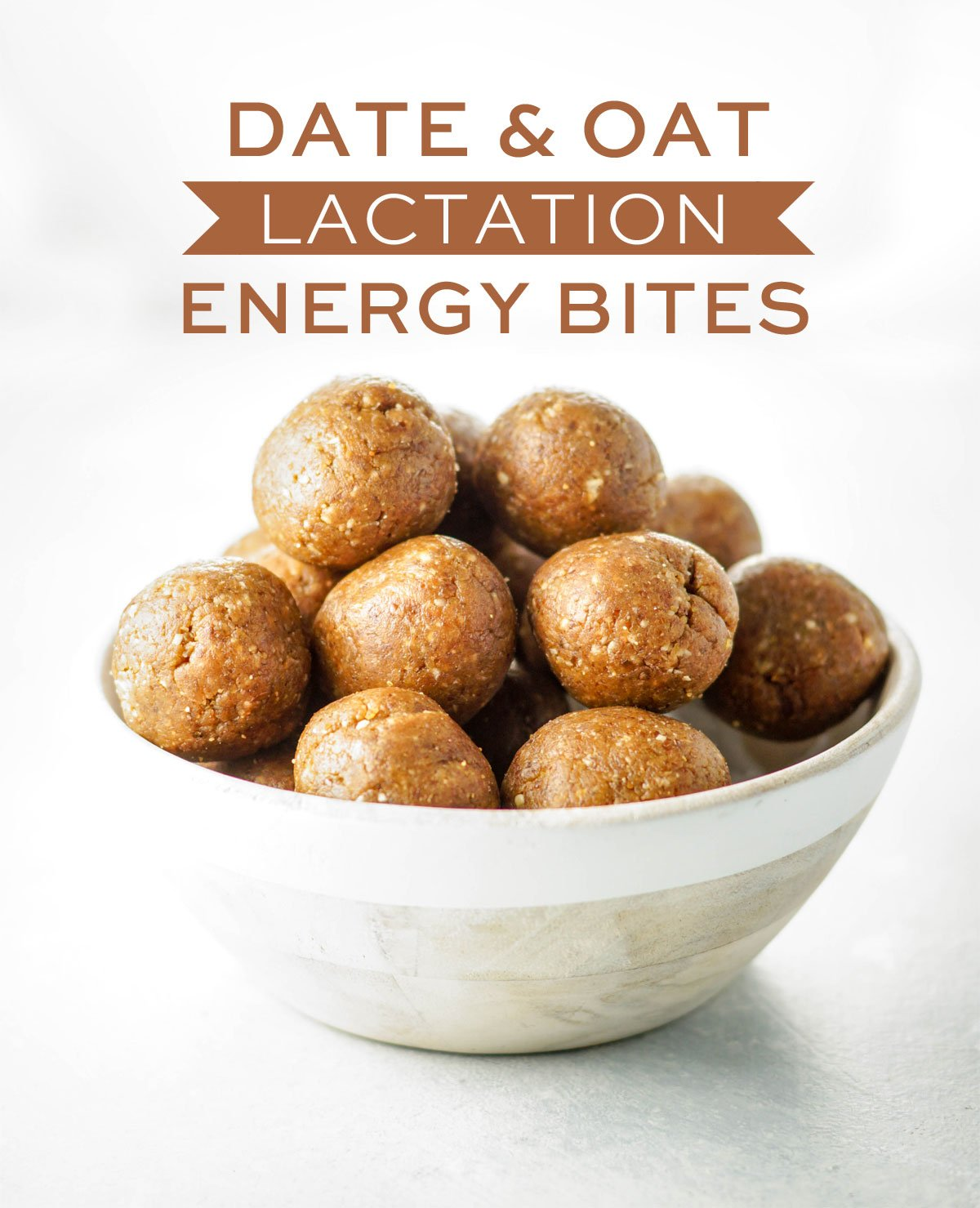 bowl of date and oat lactation energy bites