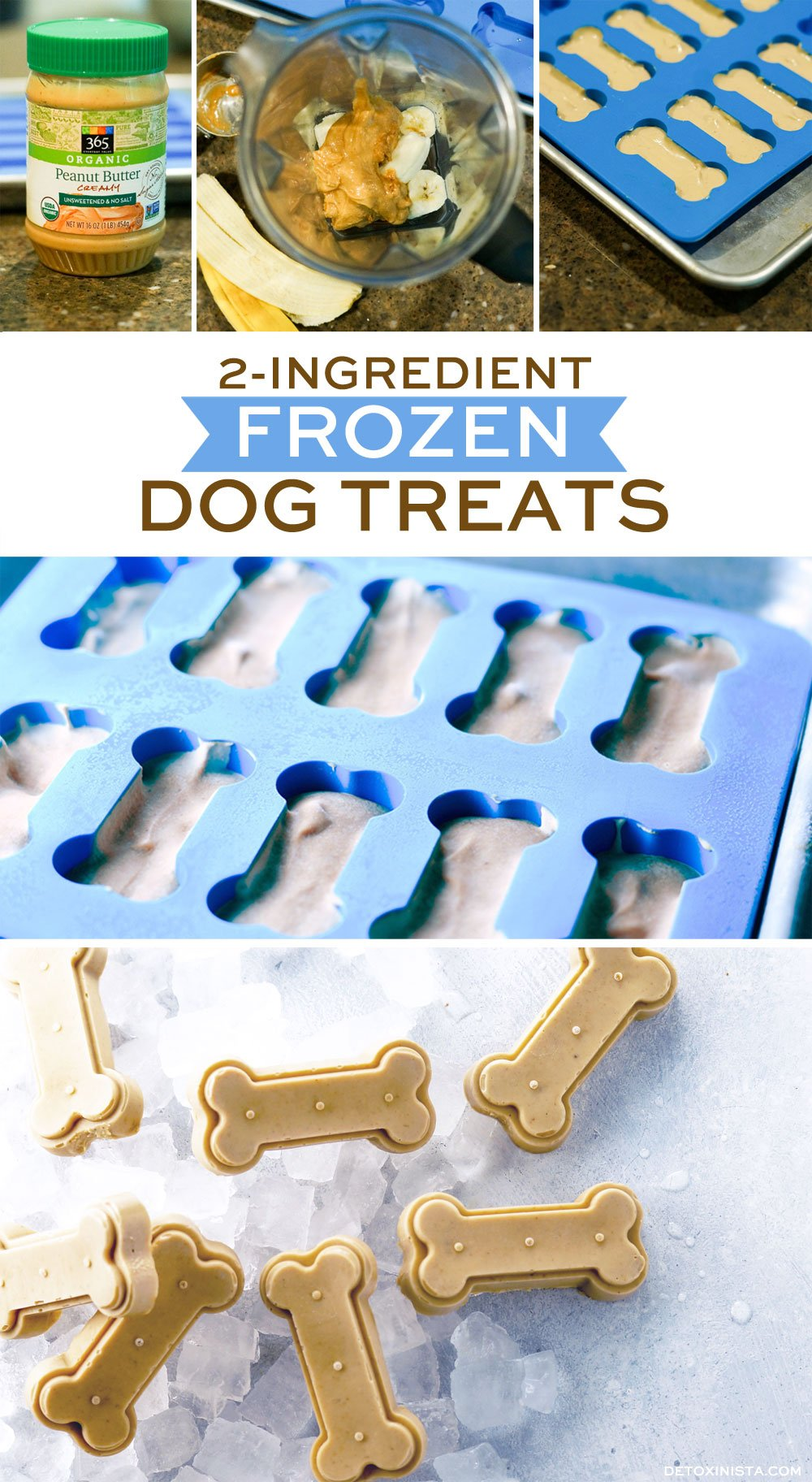 preparing frozen dog treats