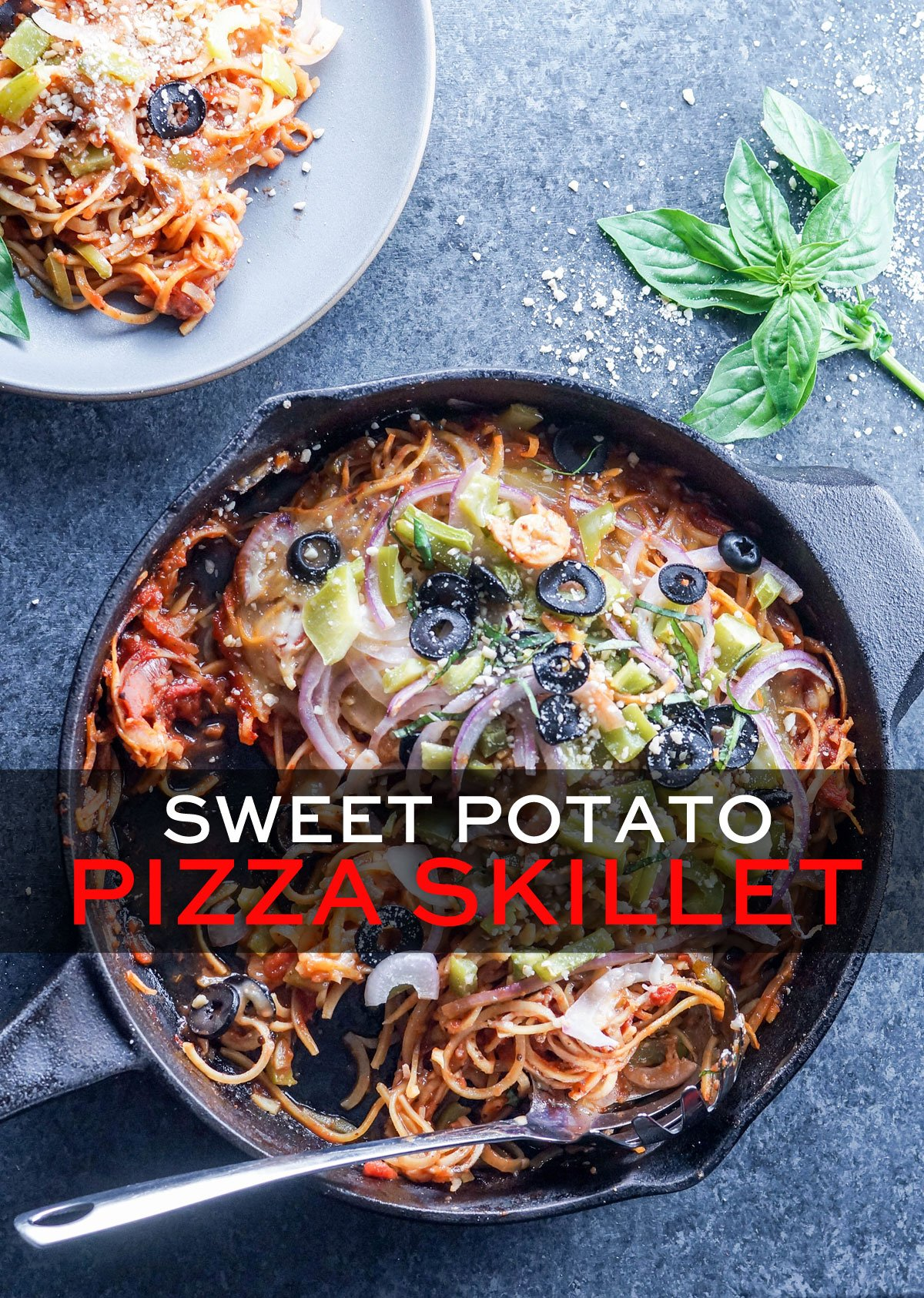 sweet potato pizza skillet dish