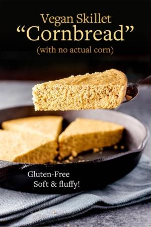 vegan cornbread pin for pinterest