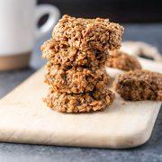 Stacked Vegan No-Bake Spice Cookies