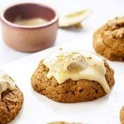 Gluten-Free Vegan Pumpkin Scone with Creamy Maple Glaze