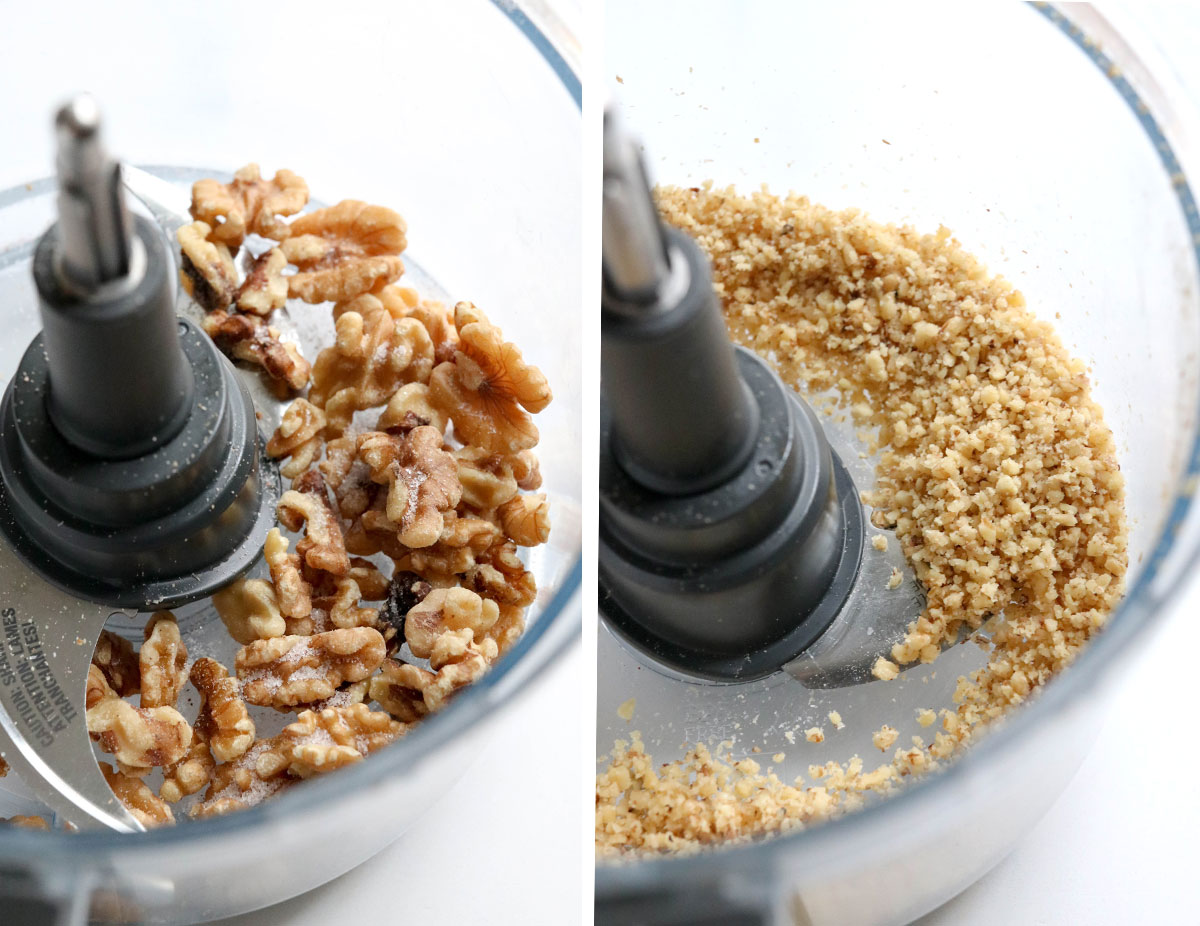 walnuts pulsed in food processor