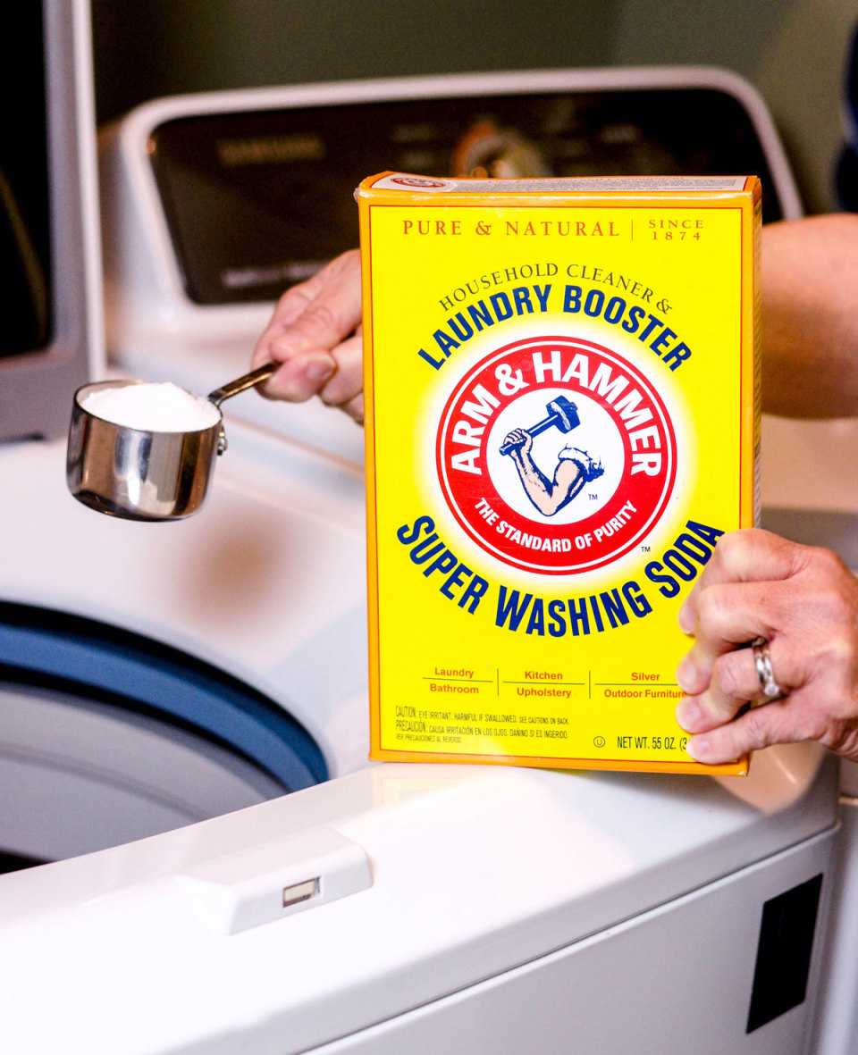 washing soda added to washing machine