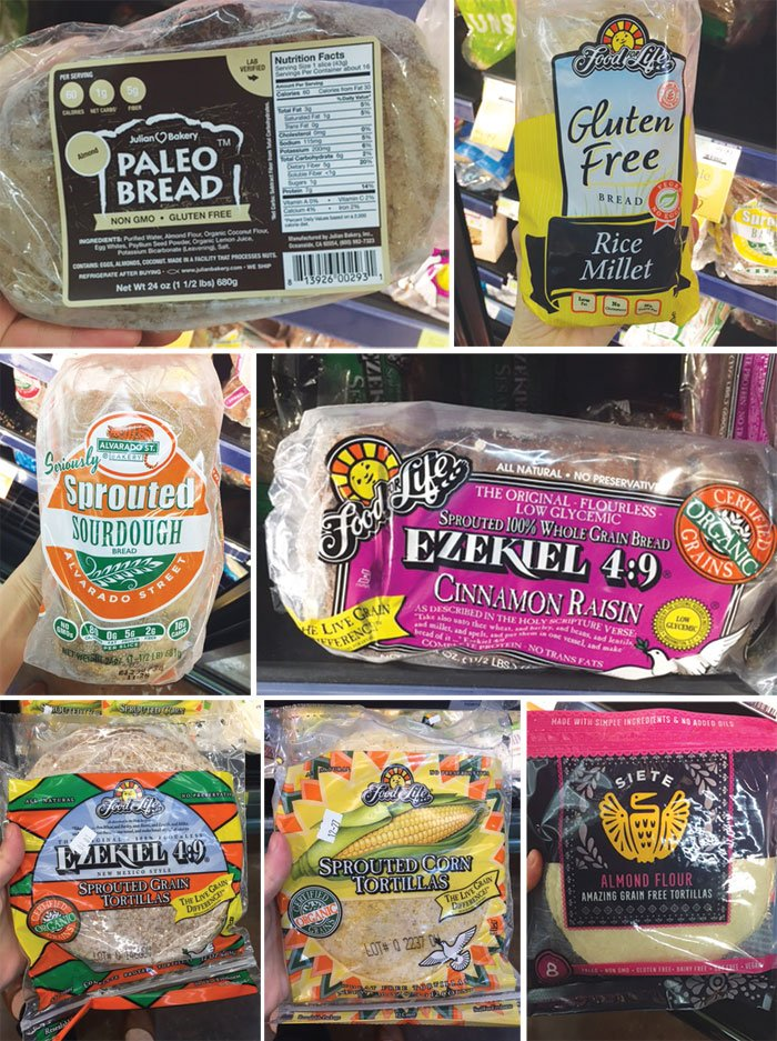 loaves of healthy breads from whole foods