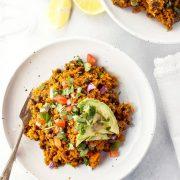 "Vegan Burrito Bowl with Sweet Potato ""Rice"""