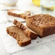 almond flour banana bread sliced
