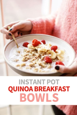 quinoa breakfast bowl pin