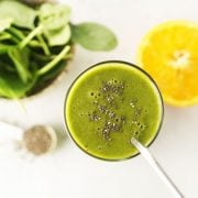 overhead green smoothie
