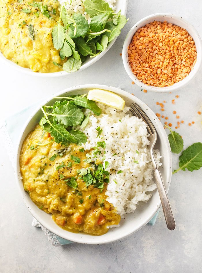 Instant Pot Red Lentil Kale Curry Detoxinista