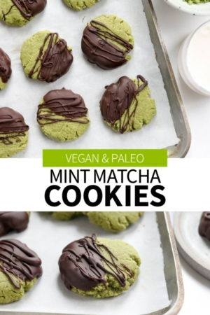 matcha cookies pin for pinterest