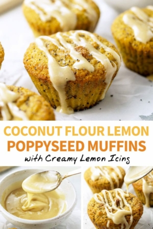 lemon poppyseed muffins pinterest pin