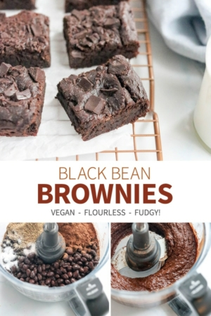 black bean brownies pin for pinterest