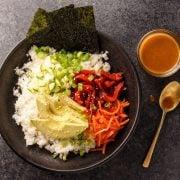 paleo sushi bowls with soy ginger dressing
