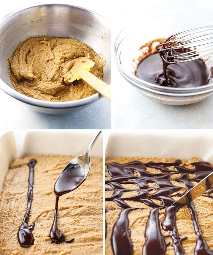 peanut butter fudge batter and homeamde 3-ingredient chocolate coating