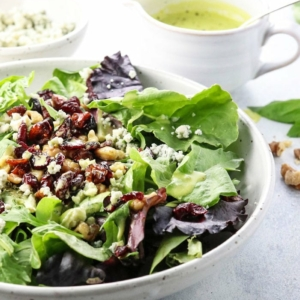 summer salad with orange basil vinaigrette