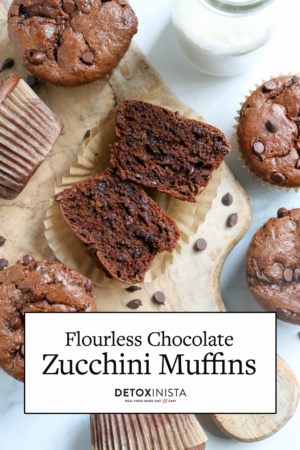 flourless chocolate muffins pin