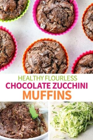 chocolate zucchini muffins pinterest pin