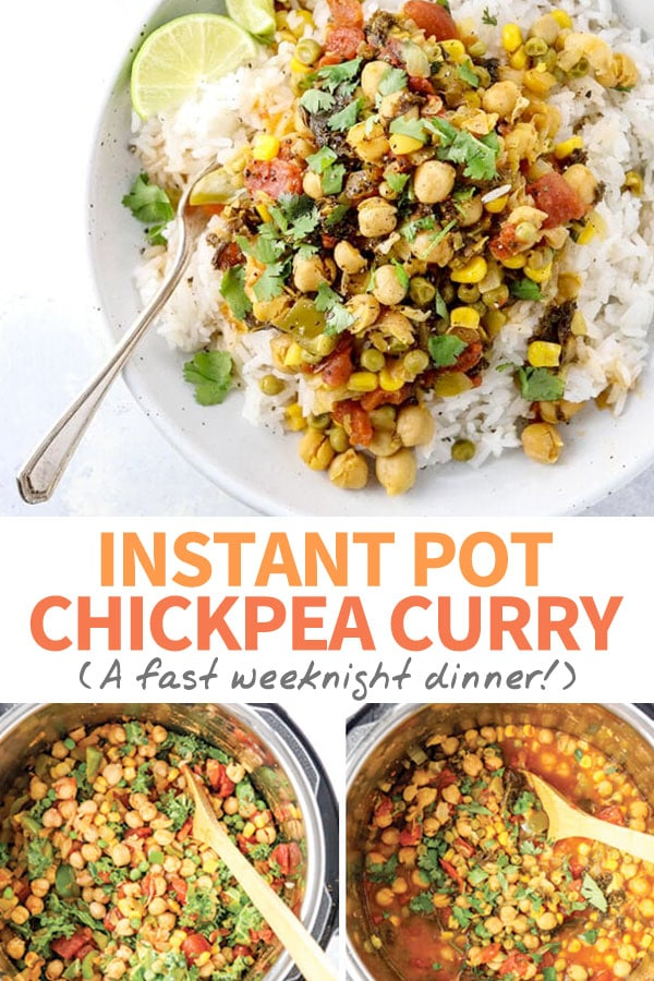 chickpea curry instant pot pin