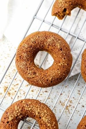 Gluten-free baked pumpkin donut