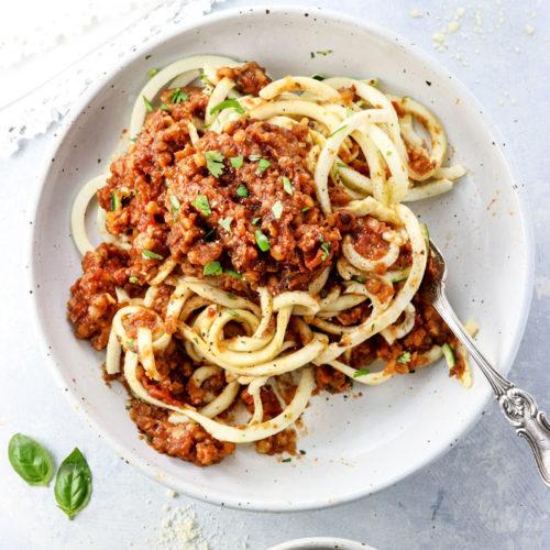 overhead Vegetarian Bolognese