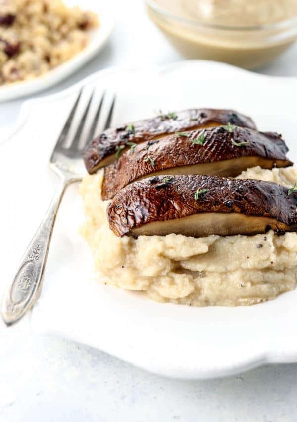 baked portobello mushrooms recipe as a vegetarian main course
