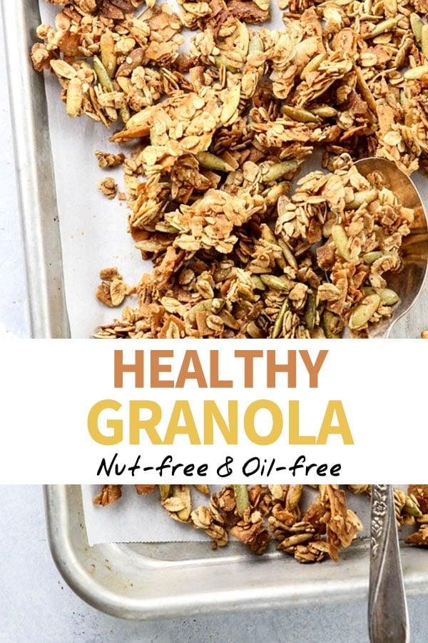 healthy granola Pinterest pin