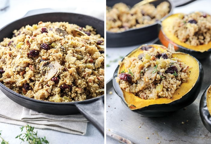 Stuffed Acorn Squash with Vegan Quinoa Stuffing | Detoxinista